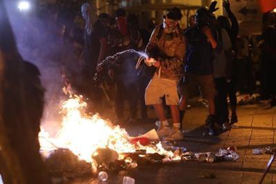 fuego protesta
