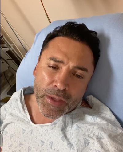 Hospitalizado con covid-19 el excampeón Oscar de la Hoya