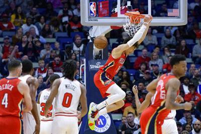 Ingram anota 29 puntos y Pelicans superan a Bulls