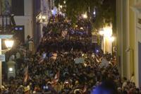 protesta la noche