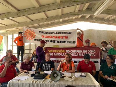 Marchan unidos en defensa del Sistema de Retiro de la UPR