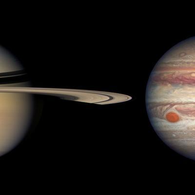 Júpiter y Saturno en su punto más cercano con la Tierra