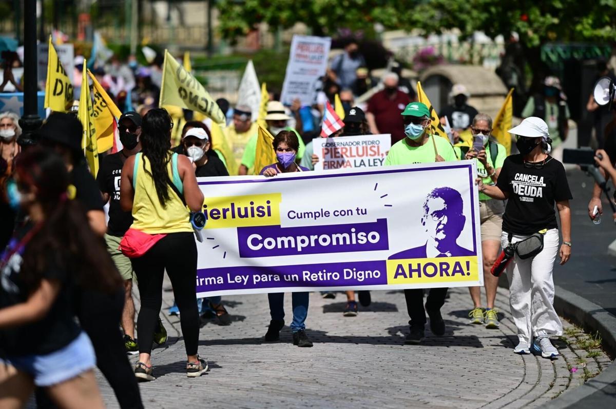 Retiro Digno, Manifestación, San Juan