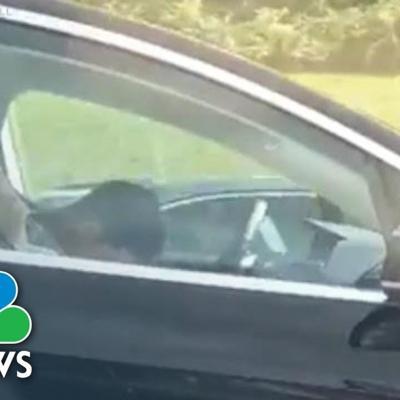 Watch: Video Shows Man Asleep At Wheel Of Self-Driving Tesla On Massachusetts Turnpike | NBC News