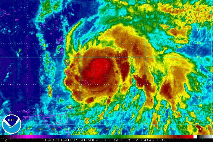 El huracán María alcanza la categoría 5 y toca tierra en Dominica