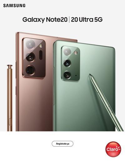 Claro y Samsung presentan nuevos Galaxy Note20 y Note20 Ultra