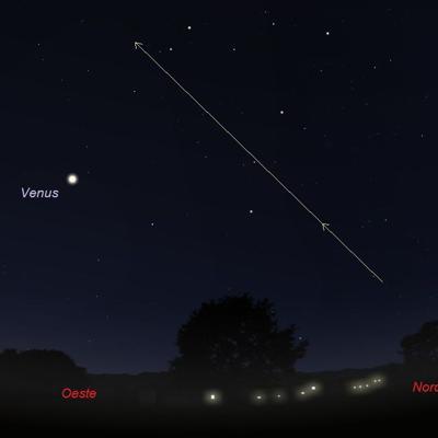 Regresa la curiosa estela en el cielo esta noche