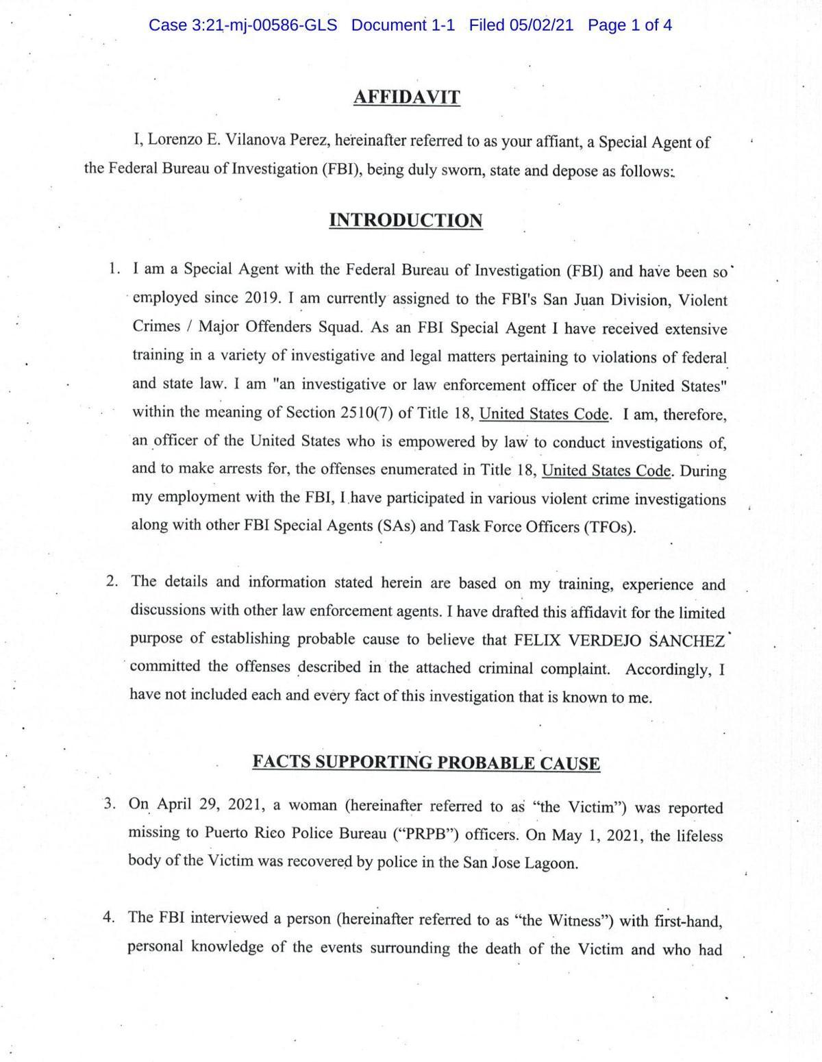 Denuncia contra Félix Verdejo