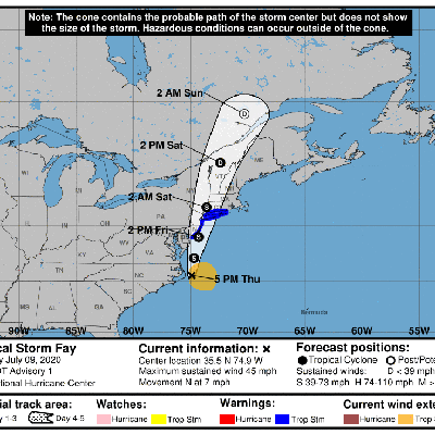 Se forma tormenta tropical Fay