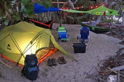 De camping en Isla de Mona
