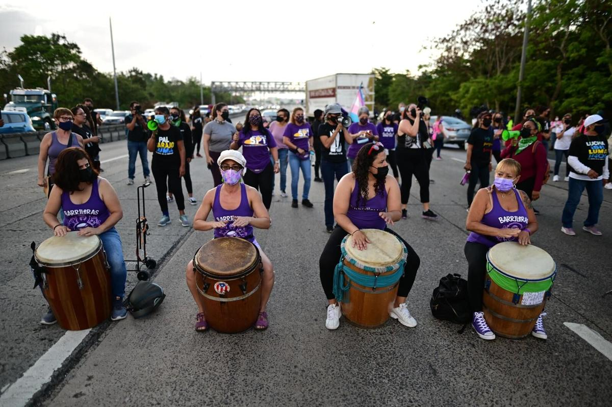 Manifestación contra LUMA en el expreso PR-22