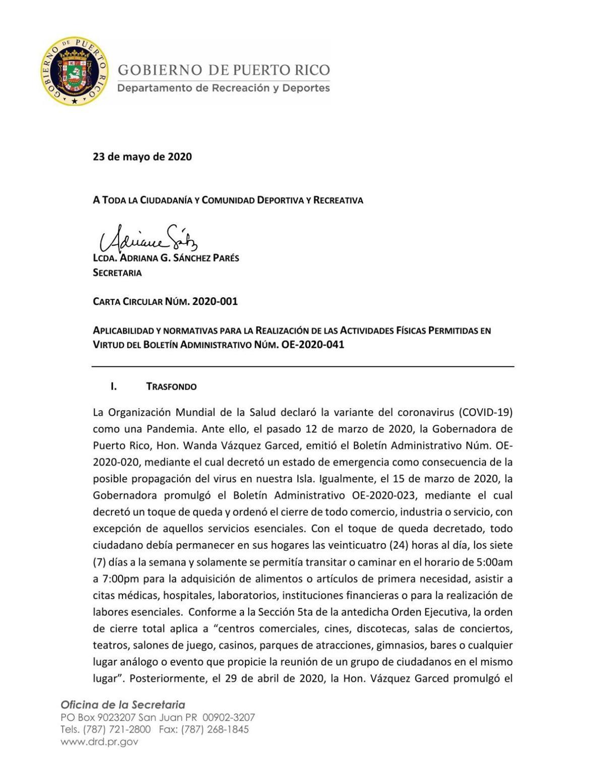 Carta Circular DRD