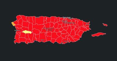 En rojo 76 de los 78 municipios en la Isla