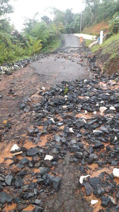 Denuncian abandono de carretera  en Coamo