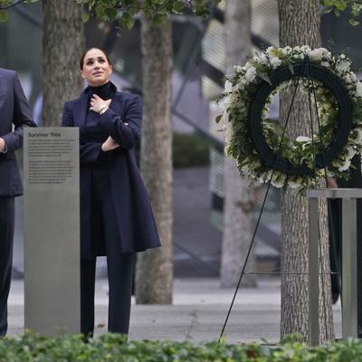 Enrique y Meghan visitan el memorial del 9/11 en Nueva York