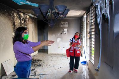 fuego, Cruz Roja