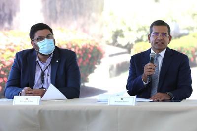Conferencia de prensa del gobernador tras reunión con equipo de Salud