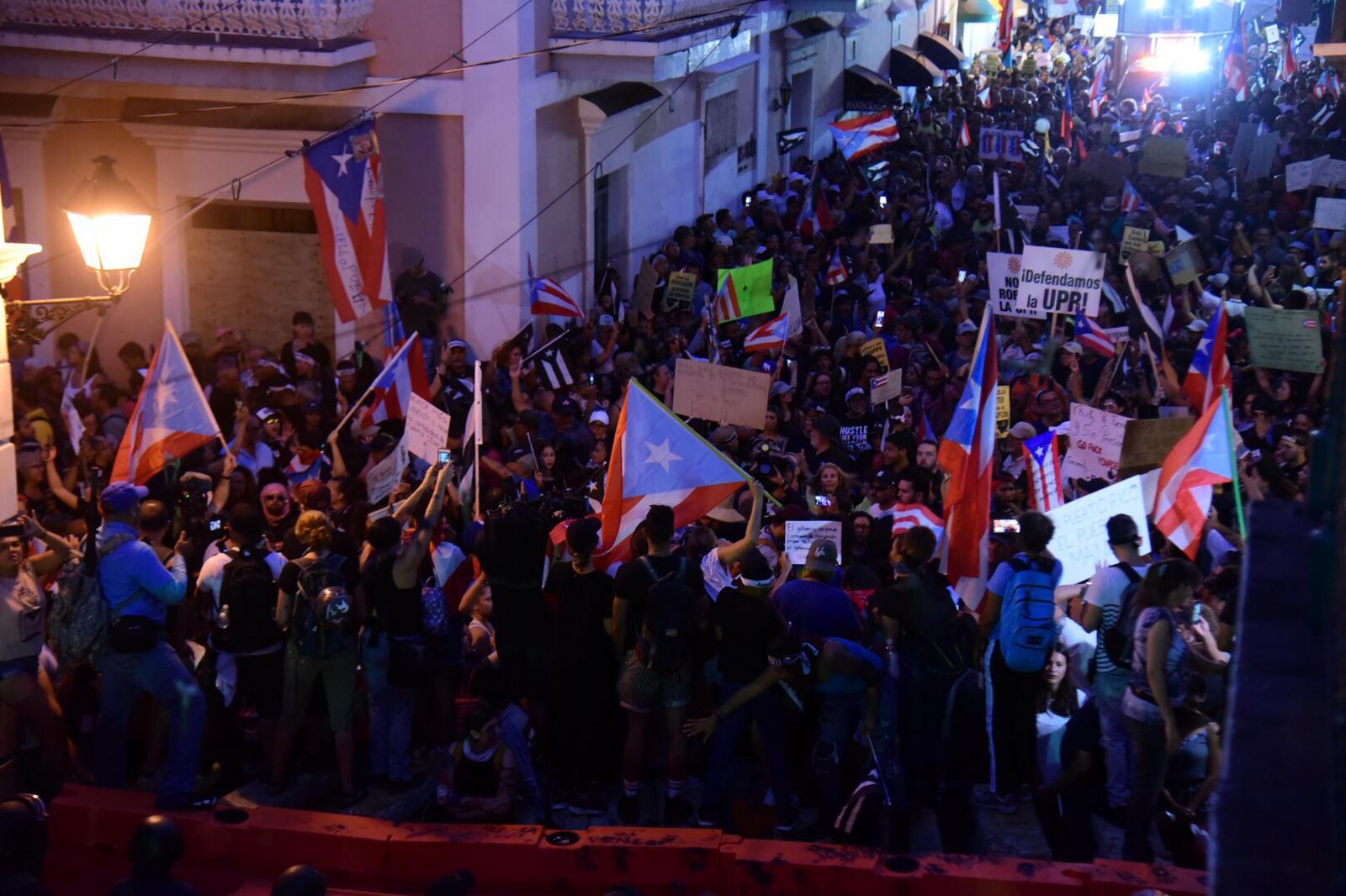 Séptimo día de manifestaciones en La Fortaleza
