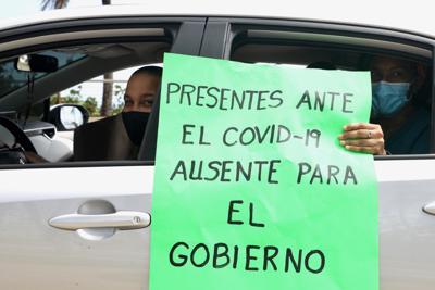 Protesta de terapistas respiratorios en el Capitolio