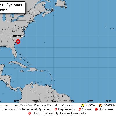 Se forma tormenta tropical Bertha frente a costas de Estados Unidos