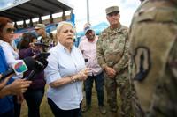 La gobernadora Wanda Vázquez en Yauco