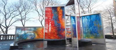 Monumento victimas Maria en NY
