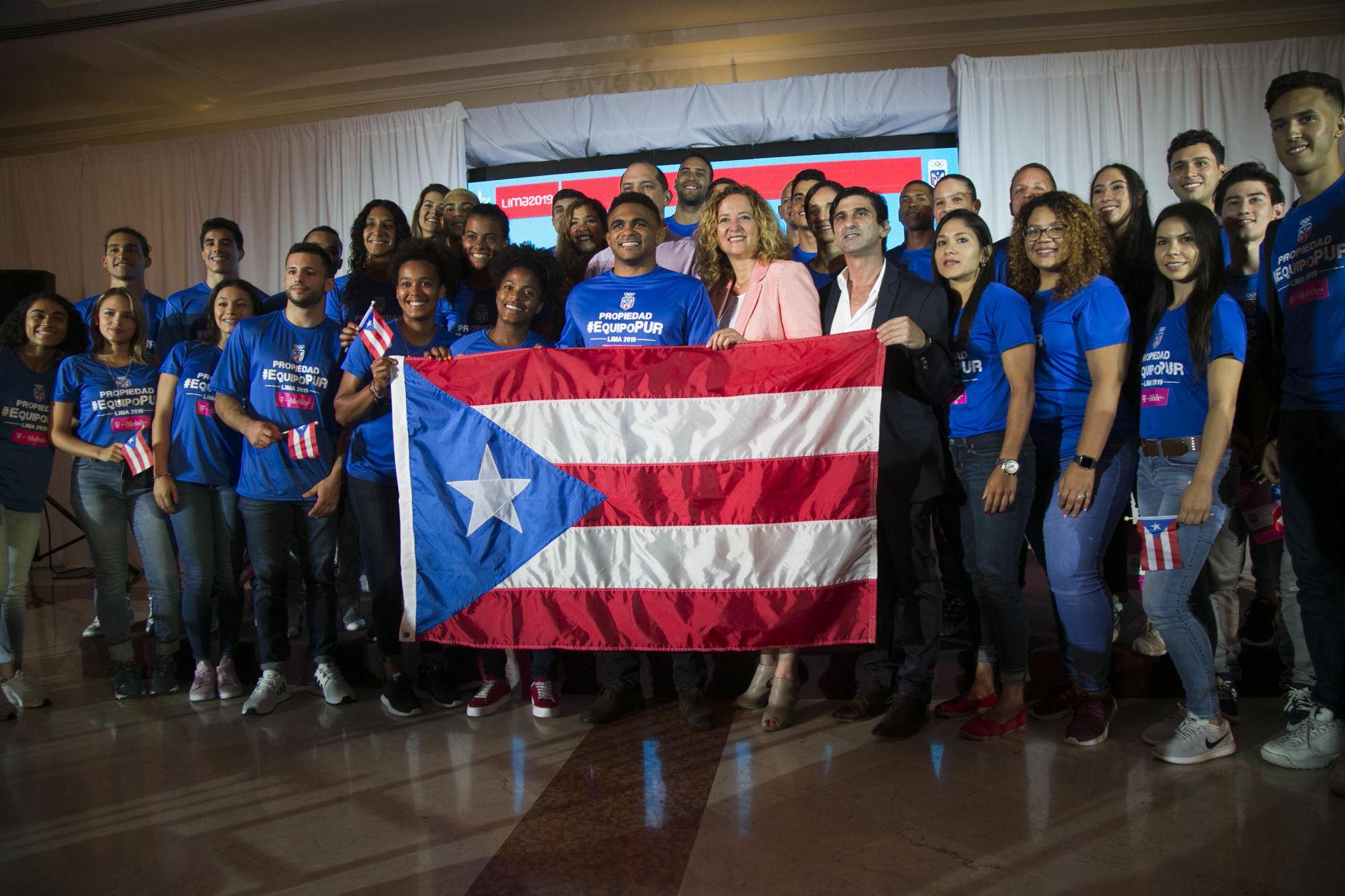 Abanderan a la delegación de Puerto Rico para Panamericanos de Lima 2019