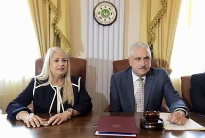 Juntos la gobernadora y Rivera Schatz