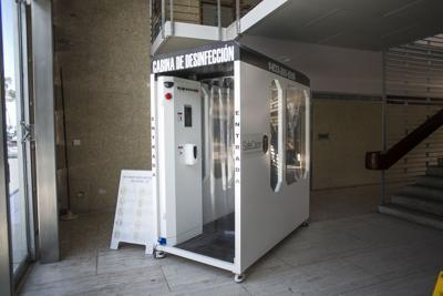 Inoperantes las cabinas de desinfección
