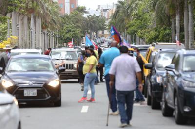caravana protesta del 1 de mayo 2020