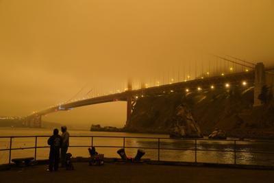 Cielos anaranjados en California es causado por incendios