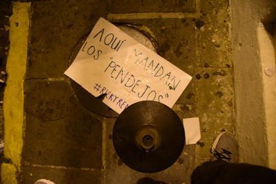 Gases lacrimógenos en manifestación en La Fortaleza
