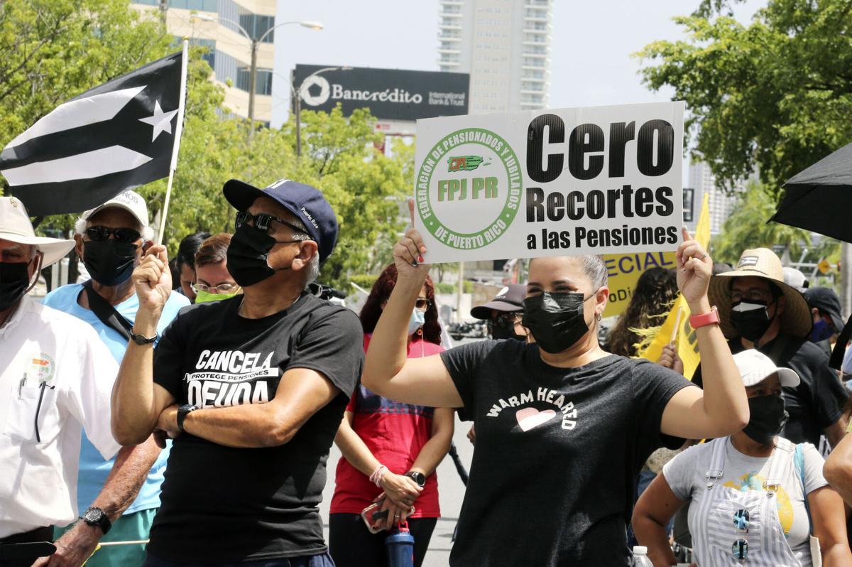 Protesta por pensiones