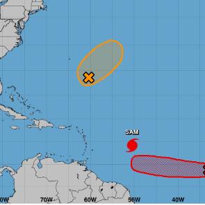El Centro Nacional de Huracanes vigila dos sistemas con potencial ciclónico en el Atlántico