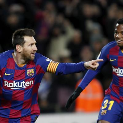 Messi le da otro triunfo al Barcelona