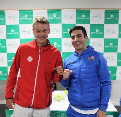 Reñido encuentro entre Puerto Rico y Dinamarca en la Copa Davis
