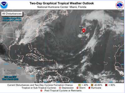Se forma la tormenta subtropical Rebekah en el Atlántico norte