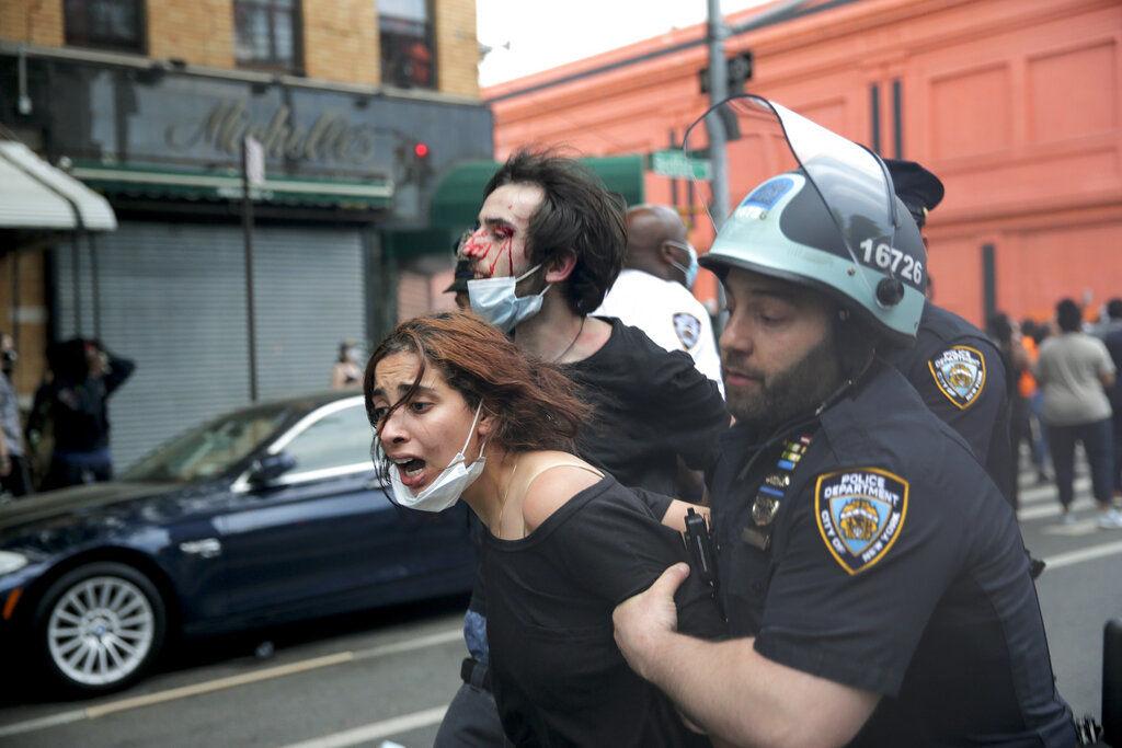 APTOPIX Minneapolis Police Death Protest New York