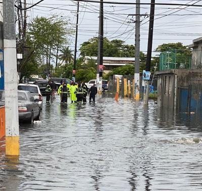 Inundados varios sectores de la capital