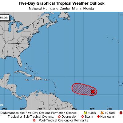 Onda tropical mantiene alta probabilidad de desarrollo ciclónico