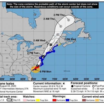 Isaías retoma fuerza de huracán