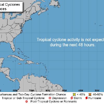 Descanso en el Atlántico en plena temporada de huracanes