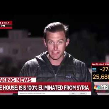 Matt Bradley MSNBC spitting on hand to comb hair