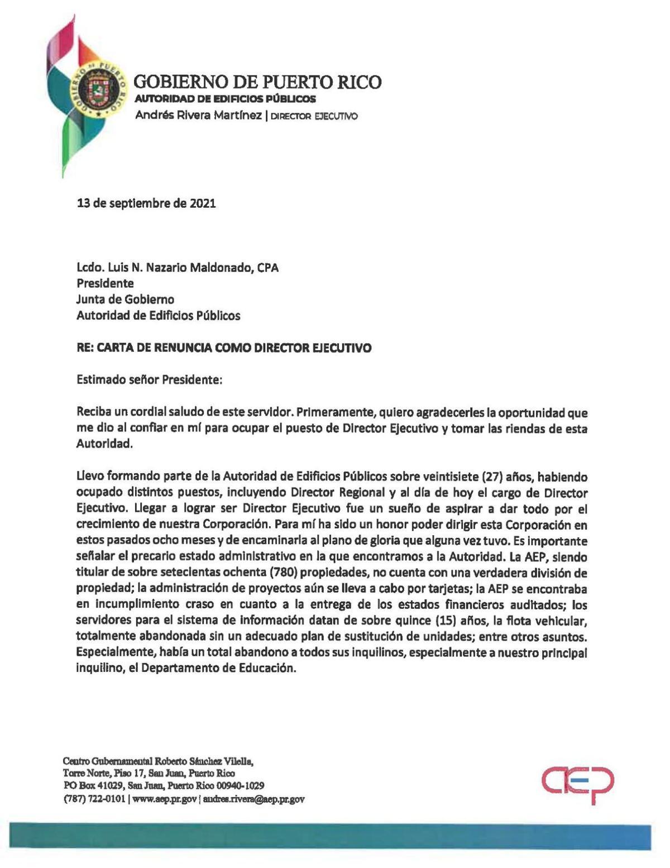 Renuncia director ejecutivo de Edificios Públicos
