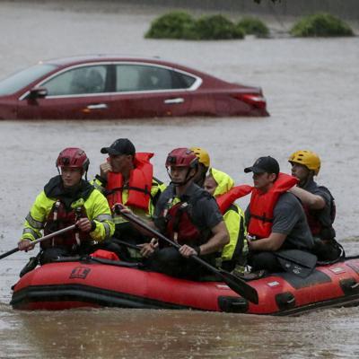 Viento y lluvia provocan inundaciones en el sur de Estados Unidos