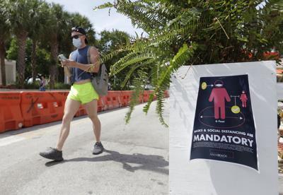 Florida registra 11,445 nuevos casos de coronavirus en un día