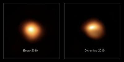 Betelgeuse before and after dimming