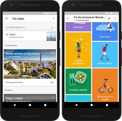 Planifique sus vacaciones con Google Trips en español