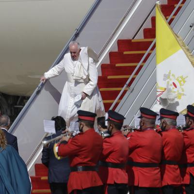 El papa Francisco visita a cristianos en Irak