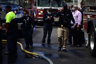 Determinan origen de incendio en GM Group Plaza